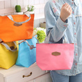 Sweet NEW 29*22CM Solid Colors Oxford Convinent Lunch Box Holder BAG Pouch ; Storage Handbag Pouch BAG ; Lunch BAG Pouch