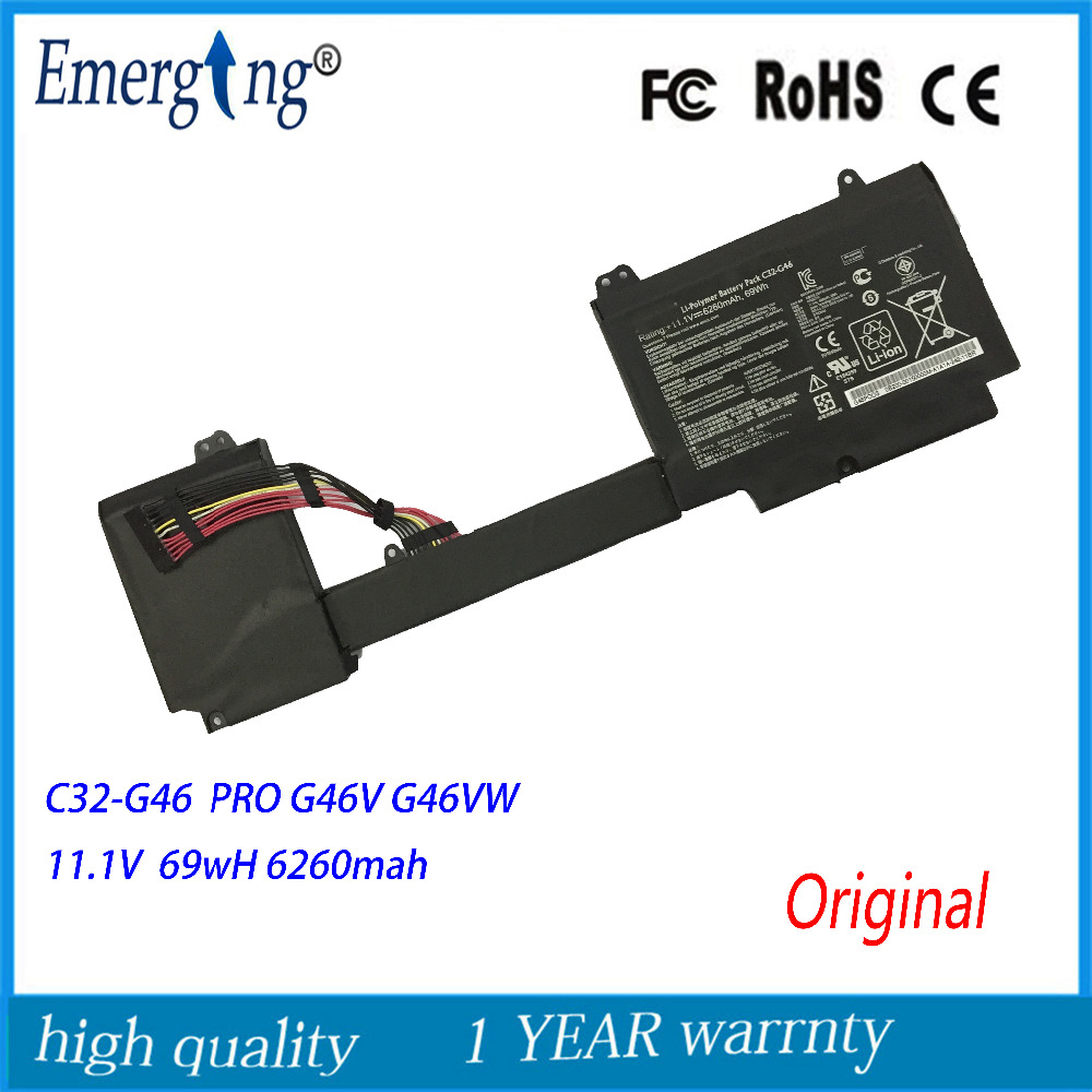 11.1V 69Wh New Original Laptop Battery for ASUS C32-G46 G46 G46V G46VW Ultrabook PRO