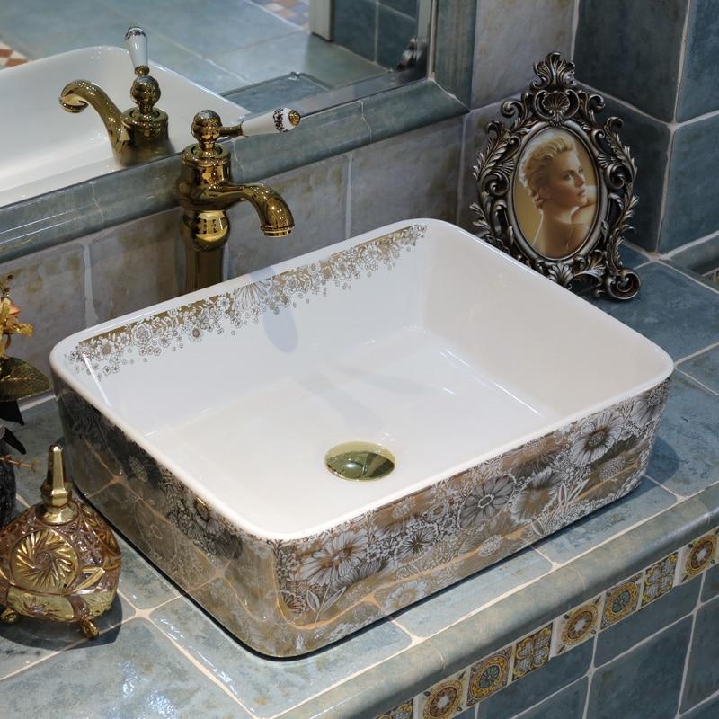 Rechthoekige badkamer wastafel koop goedkope rechthoekige badkamer wastafel loten van chinese - Rechthoekige gootsteen ...