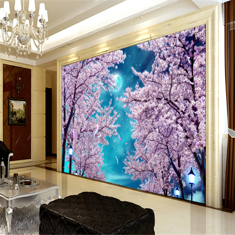 custom modern 3d photos wallpaper wall murals 3d wallpaper blue sky cherry blossom trees tv sofa background wall for living room free shipping hepburn classic black and white photos wallpaper old photos tv background wall mural wallpaper