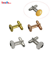 Beadsnice Solid 925 Sterling Silver Cufflinks Handmade Fit 12mm Silver Cuff Links Blank For DIY Jewelry