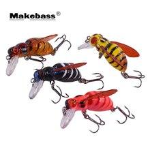 Makebass carnada искусственная Bee-Shaped рыболовная приманка для насекомых Bumblebee рыболовная приманка-топвотер CrankBait Бас Рыболовная Снасть