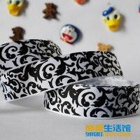 22mm halloween pattern printing belt cartoon grosgrain ribbon 10 yards hair accessory tousheng