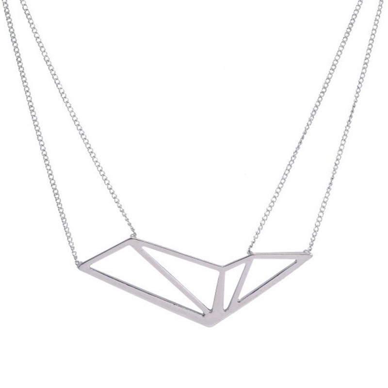 Necklace popular big texture geometry hollow out female necklace the accessories wholesale