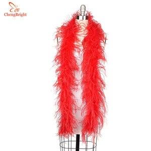 ChengBright 2 ярдов/партия 2 слоя натурального розового пушистого боа из страусиных перьев костюмы/отделка для вечеринки/костюм/шаль/страусиный шлейф