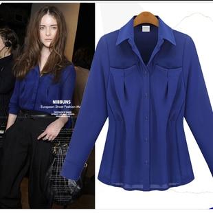 Fashion long Sleeve women blouse shirt,Lattice shirts,Single Breasted tops cotton Dress blouse