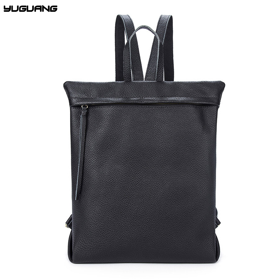 hot sale genuine leather backpacks for male preppy style mochila double shoulder school bag really cowhide duffle bag fashion стоимость