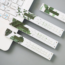Nordic Green Plant Mini Calculator Straight Ruler Tools Precision Measuring Tool Office School Supplies Multifunction Stationery стоимость