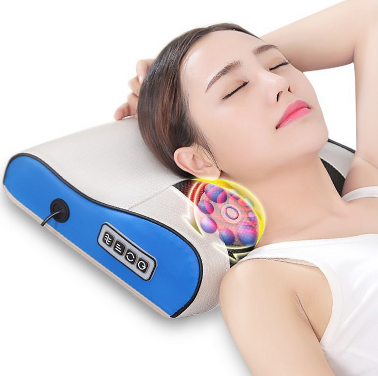 Multifunctional cervical massage neck waist back shoulder home body kneading electric massage pillow massage pad Health Care two sets electric slim massage twin power tummy butt thigh waist kneading oscillation vibration