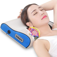 Multifunctional cervical massage neck waist back shoulder home body kneading electric massage pillow massage pad Health Care