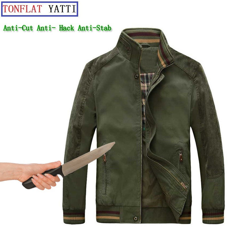 New Self Defense Security Anti-cut Anti-Hack Anti-Sta Jacket Military Stealth Defensa Police Personal Tactics Clothing 3 Color hack