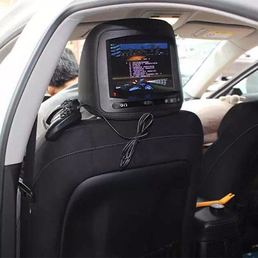 Coche reposacabezas monitor lcd reposacabezas monitor del coche reproductor de d