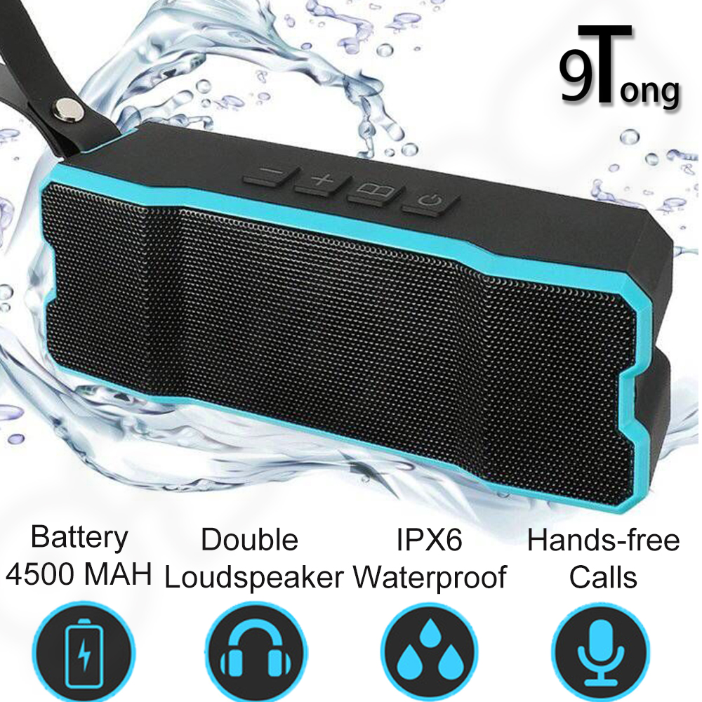 Outdoor Wireless Bluetooth Portable Speaker Waterproof Shockproof Answer Call Alert Subwoofer 4500MAH for computer pk xiaomi #A9