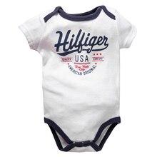 Г. Одежда для новорожденных мальчиков От 6 до 9 месяцев с надписью «Crew» боди с короткими рукавами для маленьких мальчиков