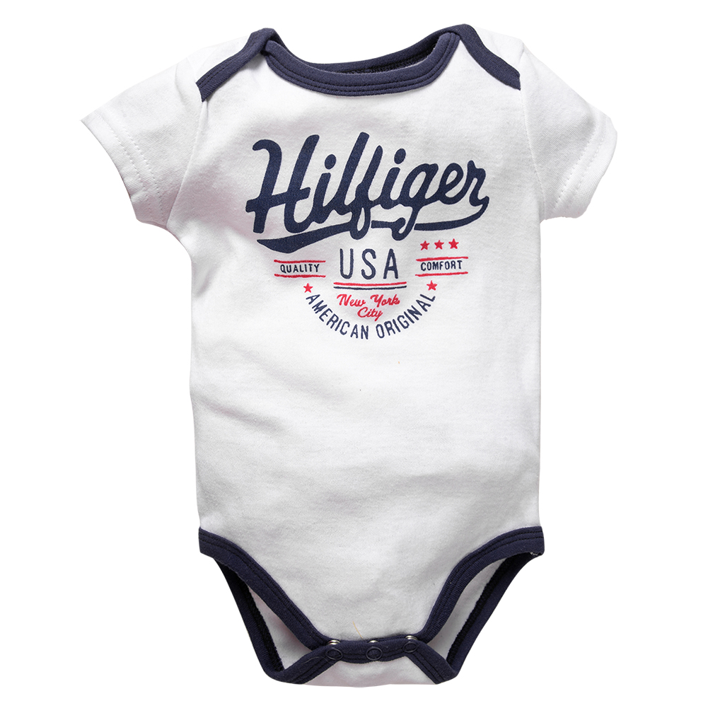 2019 Newborn Baby Boy Clothes Crew Letter Print 6-9Months Baby Toddler Kids Boys Short-Sleeve Onesies Bodysuit