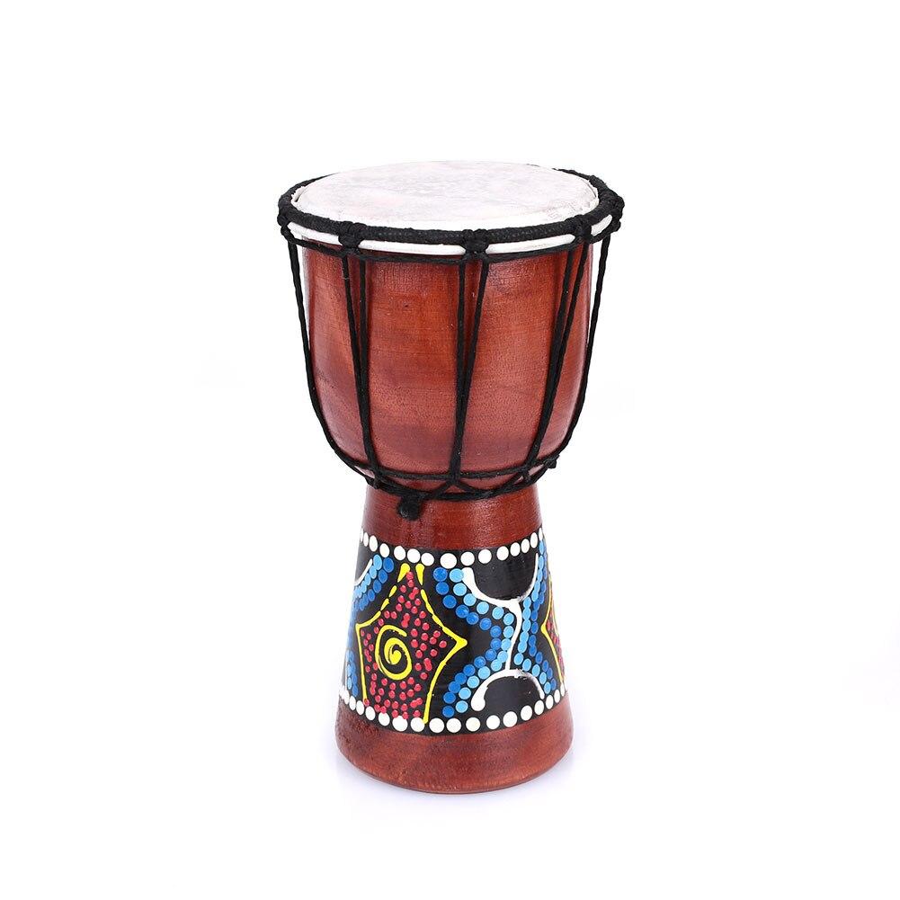 4 дюйма Африканский барабан Ударные инструменты для оригинальная, экологически чистая орнамент Тамбурины джембе ручной барабан Бонго музыкальный инструмент