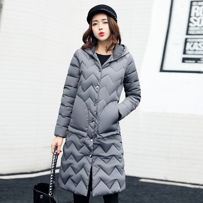 Thick Long Winter Jacket Women Padded Cotton Coat Hooded Overcoat Parka Plus Size Waved Wadded Casaco Feminino Female Jacket new winter women jacket medium long thicken plus size outwear hooded wadded coat slim parka cotton padded jacket overcoat cm1039