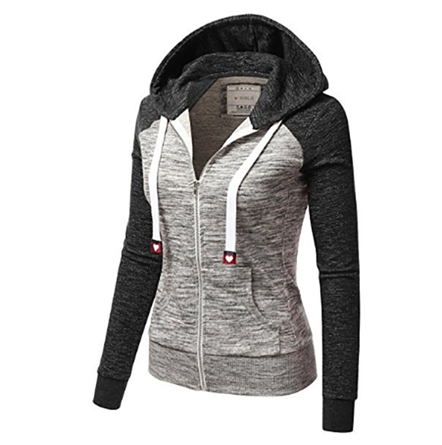 d2996ae5f3f Flying ROC women hooded long sleeve sweatshirt women casual autumn winter  clothing zip up closure femme