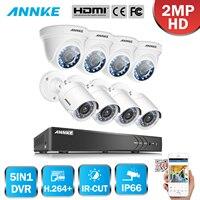 ANNKE 8CH 1080P Security DVR Recorder 8x HD 1920TVL 2 0MP 1080P HD TVI Surveillance Cameras