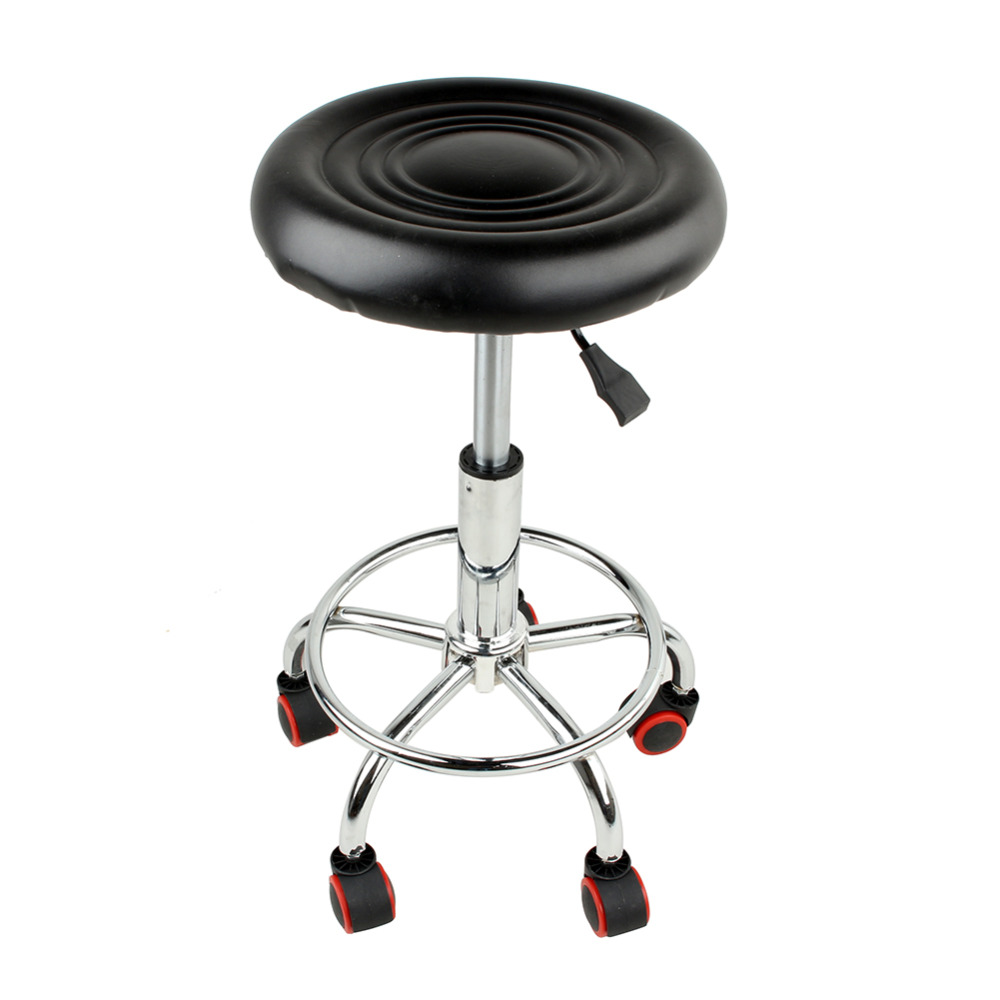 5 Rolls Leather Stool Height Adjustable Bar Chair Work Rotating Chair Swivel Stool Adjustable Bar Stools Swivel Banqueta-in Bar Chairs from Furniture on ...  sc 1 st  AliExpress.com & 5 Rolls Leather Stool Height Adjustable Bar Chair Work Rotating ...