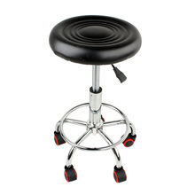 5 Rolls Leather Stool Height Adjustable Bar Chair Work Rotating Chair Swivel Stool Adjustable Bar Stools Swivel Banqueta(Hong Kong,China)