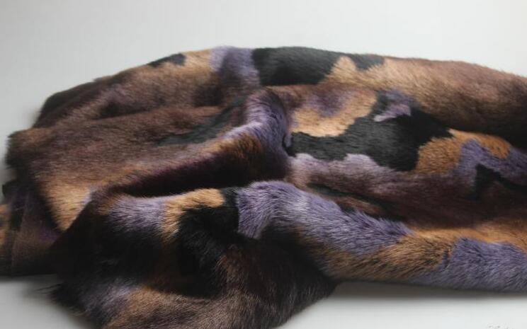 5 Estilo Rex conejo largo pelo animal algodón felpa lana tela para abrigo textil parches hechos a mano Jacquard grueso tejido de lentejuelas a346 - 5
