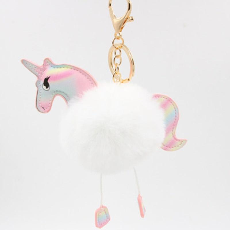 Toys & Hobbies Stuffed Animals & Plush Colorful Unicorn Plush Toy Backpack Pendant Keychain Stuffed Animal Plush Keychains Small Pendant Bag Accessories Durable Service