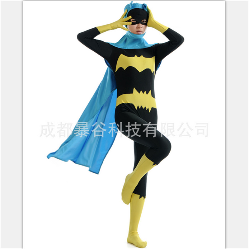 New high quality women batman costume superhero cosplay bodysuit zentai mask capesexy batgirl adult halloween costumes for women