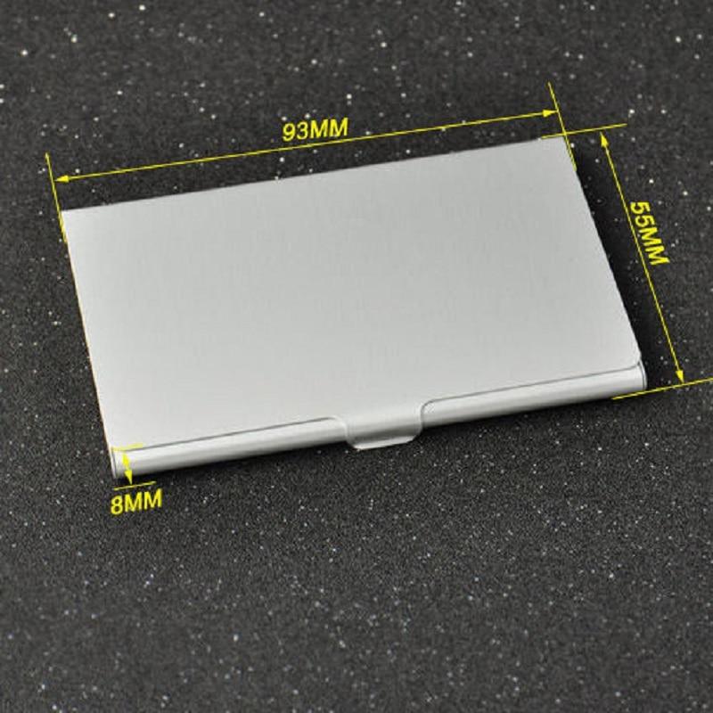 1 pc Waterproof Business Card Storage Box Aluminum Metal Business ...