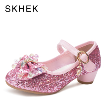 SKHEK Kids Sandals Princess Girls Shoes Children Shoes Girls Bowtie Slip On Party Dance Girls Casual Shoe Three Colors SKU B779 final girls three girls three tragedies one unthinkable secret