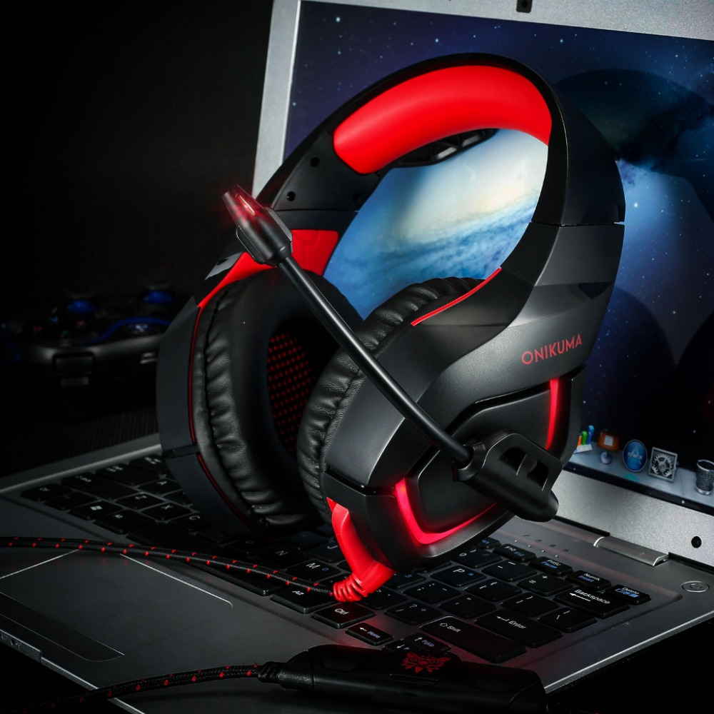 ONIKUMA K1 B PC Gaming Headset Deep Bass Headphones with Mic for PS4 New Xbox Computer Mobile Phone Game PUBG Earphone in Headphone Headset from Consumer Electronics