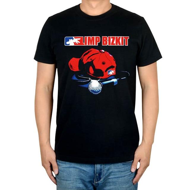 1ca523873 6 styles Limp Bizkit Punk Rock Band microphone Skull rocker T shirt  100%Cotton Heavy Metal print Tshirt XXXL men women