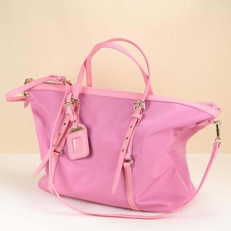 large shoulder bag pink big totes bags women nylon waterproof handbag luxury design fashion bags high quality keytrend 2016 women s pink party totes handbag fashion summer hasp crossed body bag ksb085