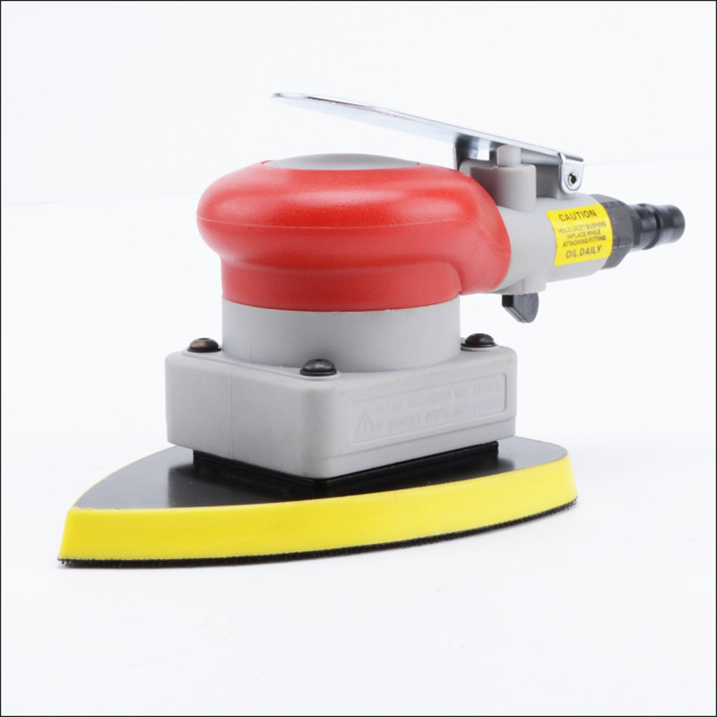 free ship vibration type pneumatic sanding machine trangle grinding machine sand vibration machine polishing machine 90X135mm 4 inch disc type pneumatic polishing machine 100mm pneumatic sander sand machine bd 0145
