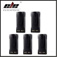 5x Eleoption 7 4V 1300mAh Ni CD HNN9008A HNN9009A Battery For MOTOROLA GP320 GP338 GP360