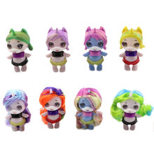 HOT 8pcs/set Slime Doll Ornament Toys Squishy Poopsie Slime Surprise Unicorn Spit Mucus Doll Anti Stress Squeeze for Kids(China)