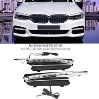 1 пара авто днем ходовые огни поворотник DRL светодио дный фонари для BMW X5 (E70) 2007 2008 2009 2010 стайлинга автомобилей