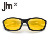 JM Night Vision Driving Sunglasses Outdoor Sport Polarized Anti Glare Night Vision Sun Glasses Reduce Eye Strain Eyeglasses