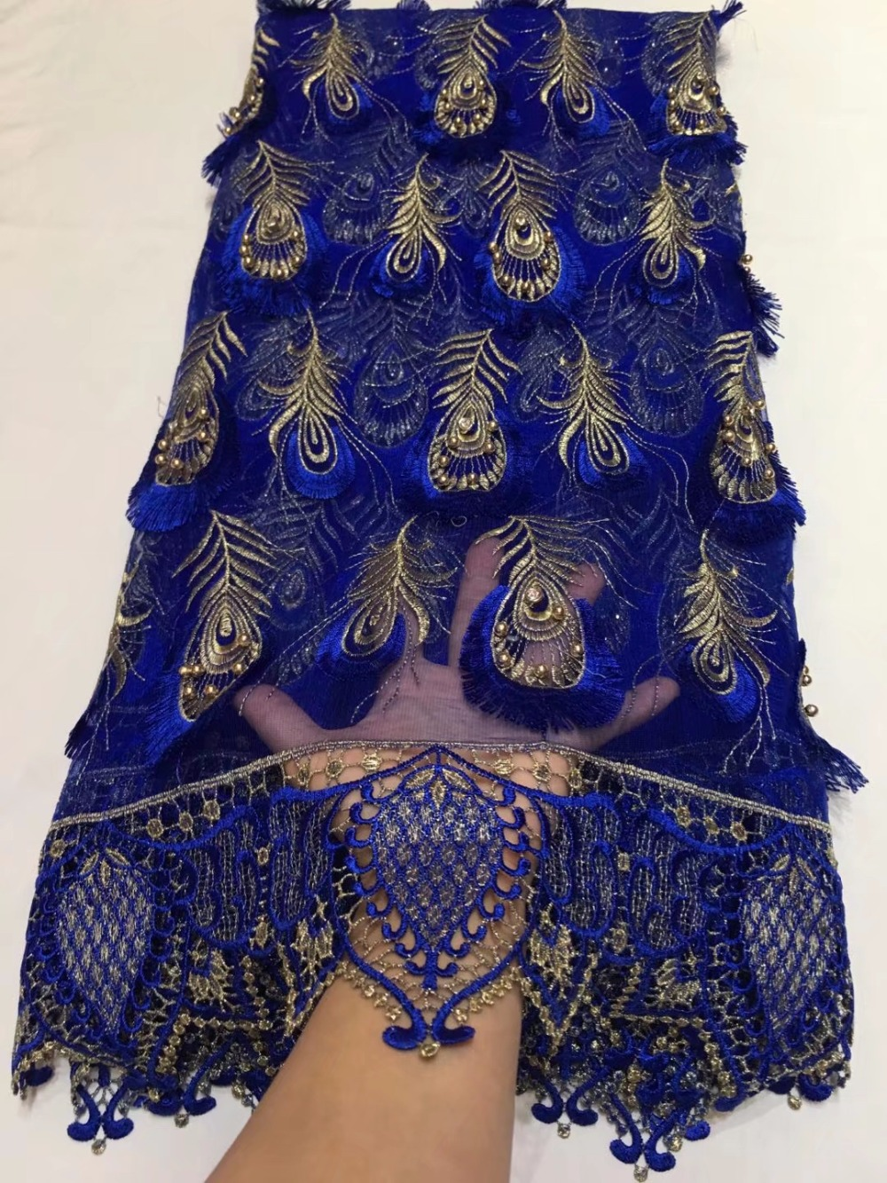 Nigerian French Tulle Lace Fabric With Beaded African French Net Lace Fabric Embroidered  Guipure Cord Lace FabricsNigerian French Tulle Lace Fabric With Beaded African French Net Lace Fabric Embroidered  Guipure Cord Lace Fabrics