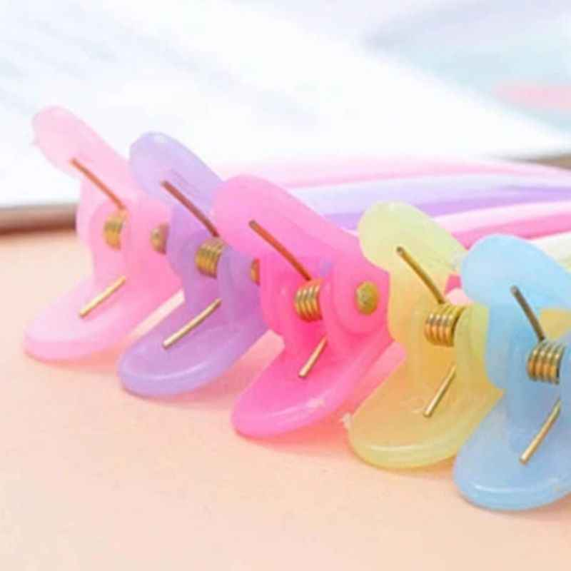 1Pc Women Girls Sweet Jelly Candy Color Single Prong Hair Clip Semi Transparent Hairdressing Salon Non-Slip Hair Bows Alligator