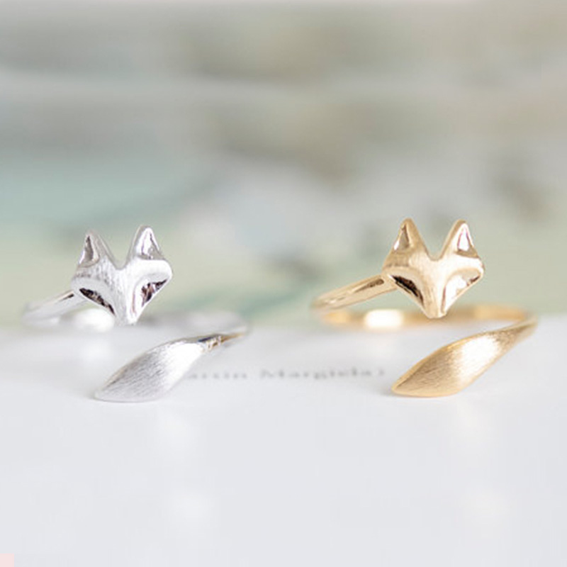 Wholesale 10 pce/lot Adjustable Wolf Ring Fire fox Full Finger Rings Mix Color Fashion Metal Jewelry Office Lady Free Shipping