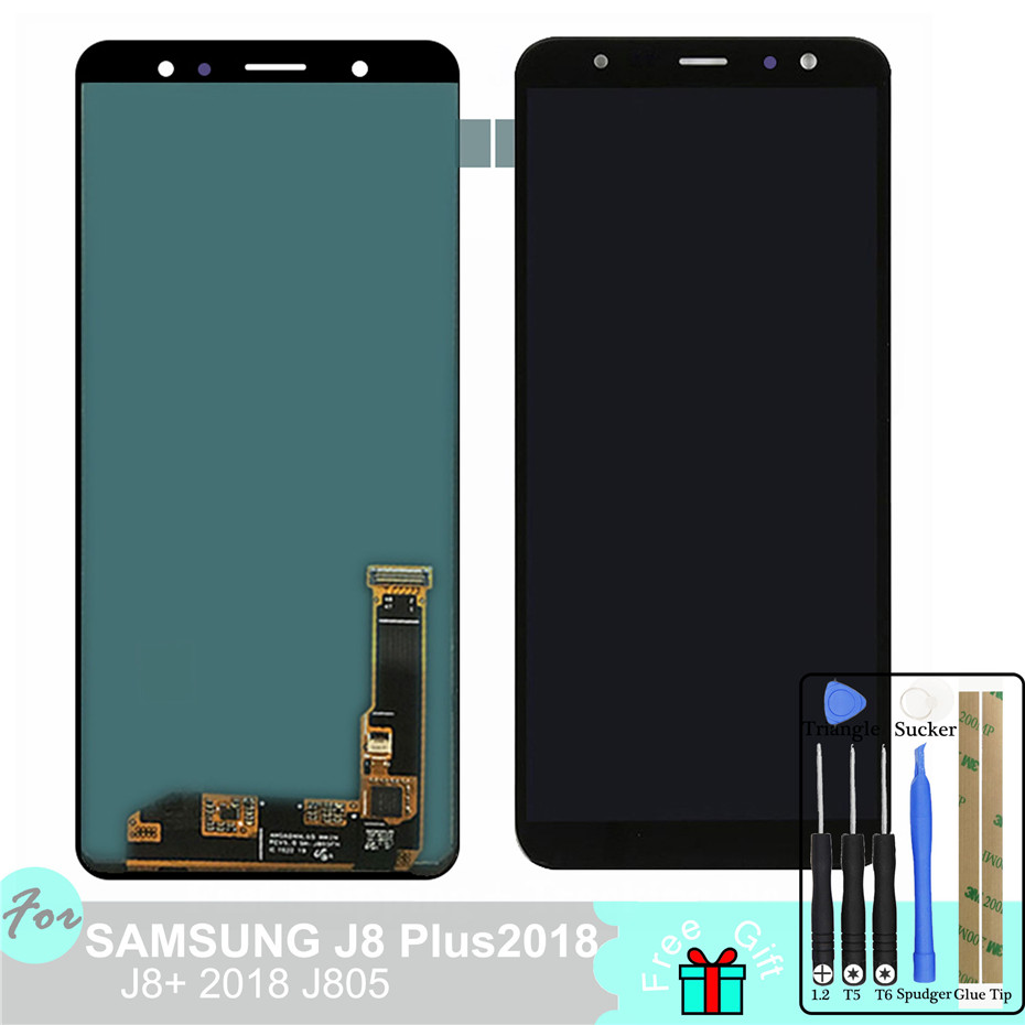 6.4 Adjust Brightness LCD For Samsung Galaxy j8 Plus 2018 j8+ j805  LCD Display Touch Screen Digitizer Pancel6.4 Adjust Brightness LCD For Samsung Galaxy j8 Plus 2018 j8+ j805  LCD Display Touch Screen Digitizer Pancel