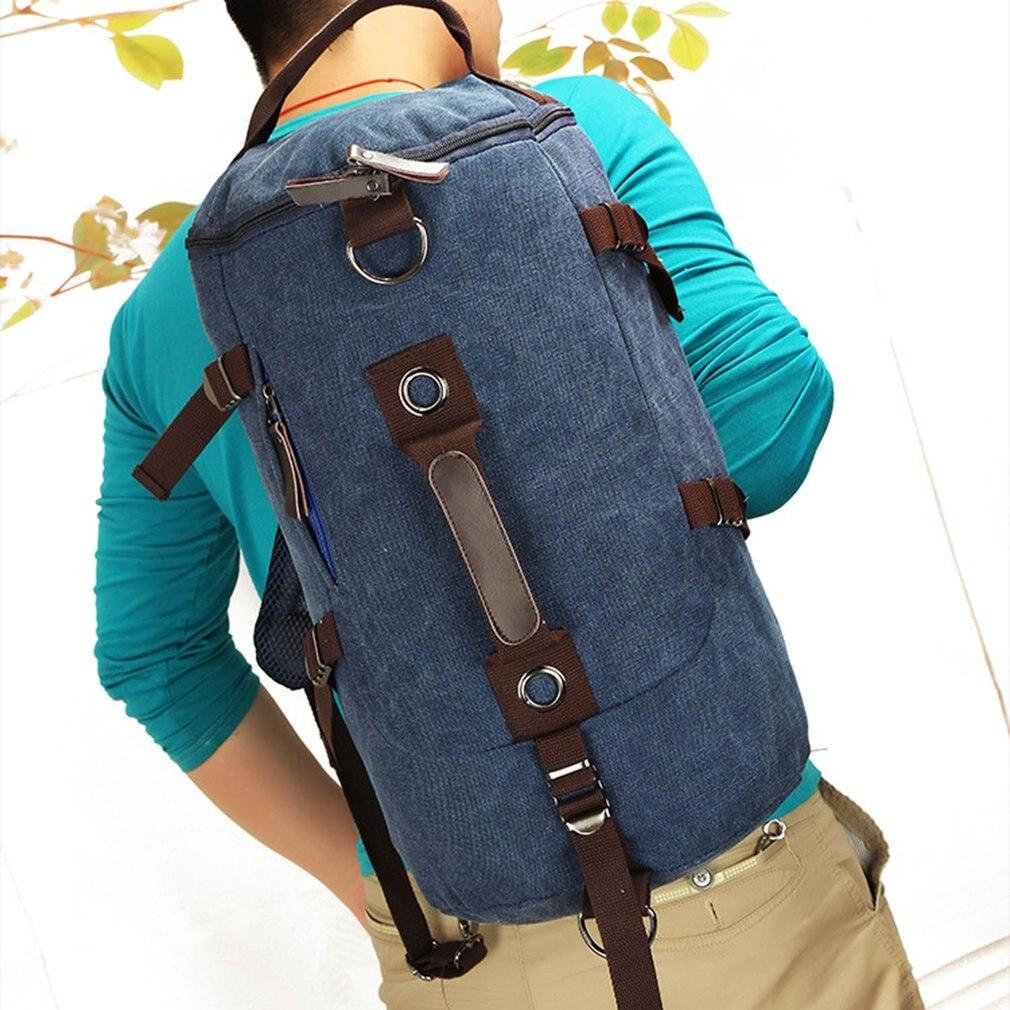 Vintage Canvas Backpack Large Male Backpack Travel Bag