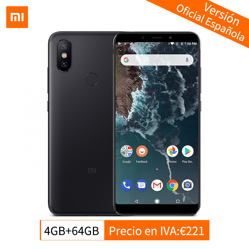Mondial Version Xiao mi mi A2 4 gb 64 gb Mobile Téléphone Snapdragon 660 Octa Core 20.0MP Double Caméra 5.99 18:9 Plein Écran Android Un