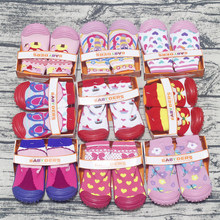 11-14CM baby girl boy prewalker shoes mepiq skidders rubber soft sole cotton booty cartoon toddler infant child footwear(China)