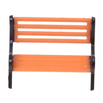 5pcs Model Train Platform Park Street Seat Bench Chair Settee 1:50 Mini Garden Ornament Miniature Park Bench image