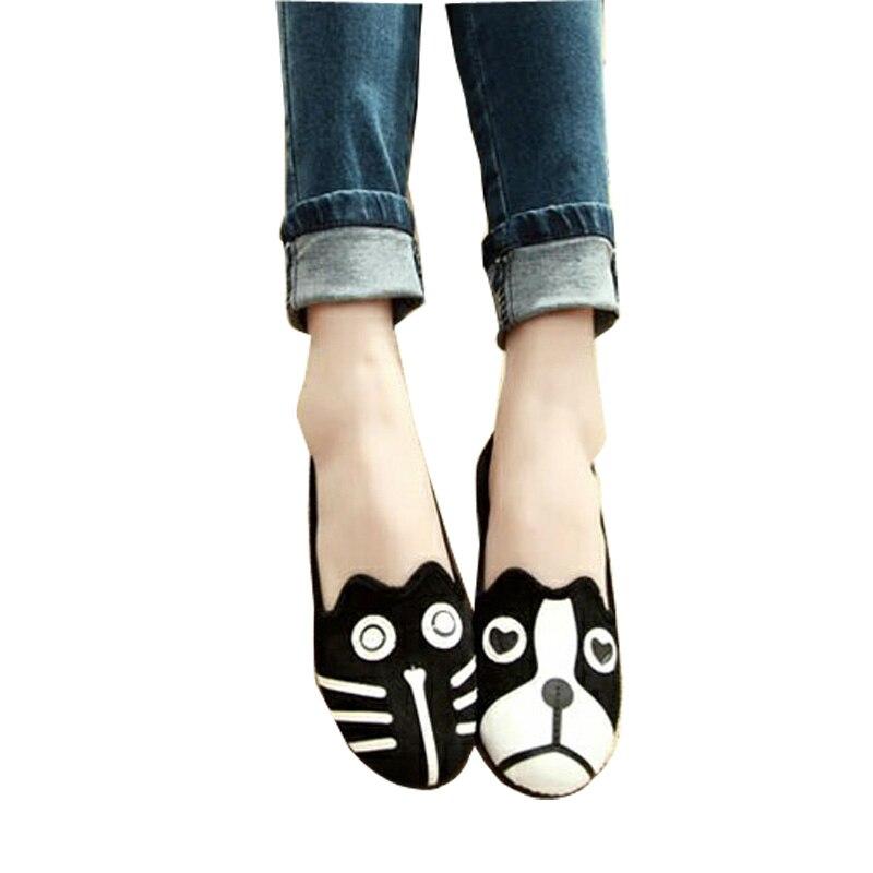 кошка плоские туфли