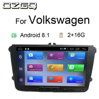 OZGQ Android 8.1 System PX30 2+16G Universal 9 inch Car Player For Volkswagen Passat Golf Tiguan Polo Audio Video Stereo