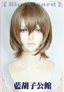 Anime Persona 5 Goro Akechi peruki krótkie pościel ciemny szary żaroodporne włosy syntetyczne Cosplay peruki + peruka Cap
