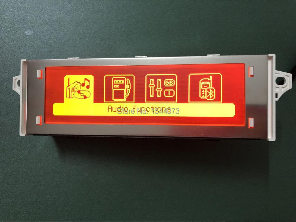 Original 12Pin Red screen support USB Bluetooth 4 menu Display Red monitor for Peugeot 307 407 408 citroen C4 C5